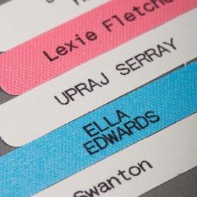 Étiquette imprimée thermocollante
