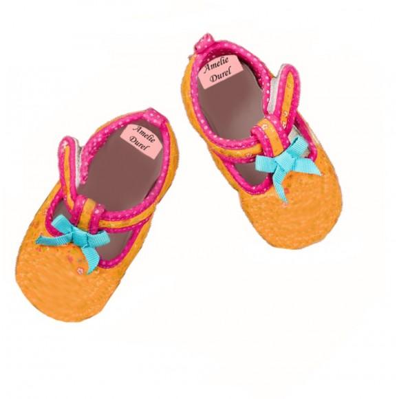 Étiquette de chaussure et propriété