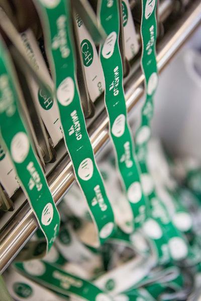 étiquettes de lavage et d'entretien